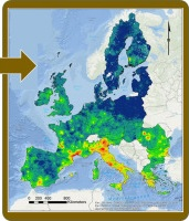 Copper distribution European topsoils II